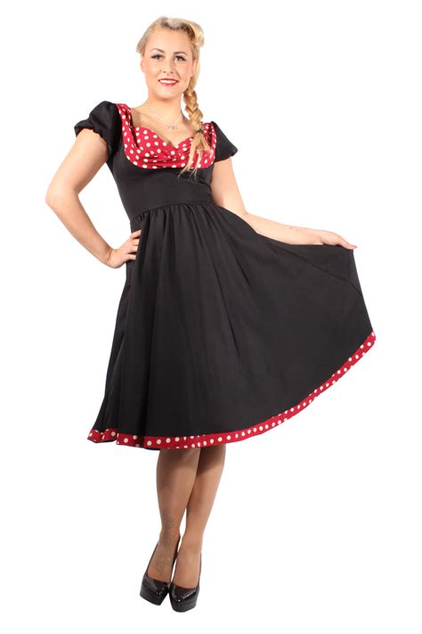 rockabilly swing kleid pin up polka dots rockabilly swing petticoat kleid