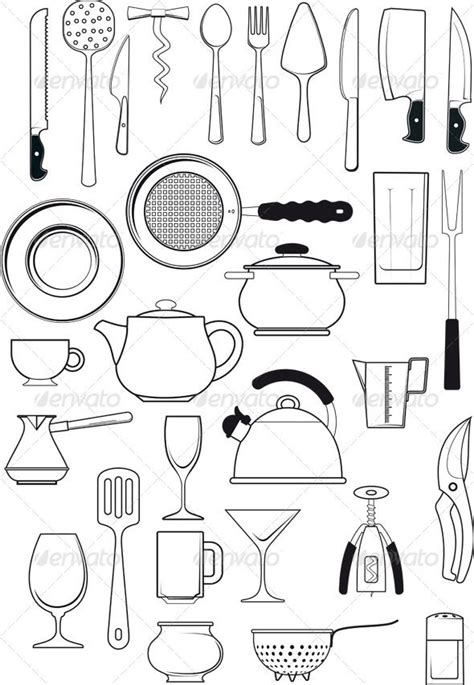 kitchen objects coloring pages 95 best kitchen templates images on pinterest jars for