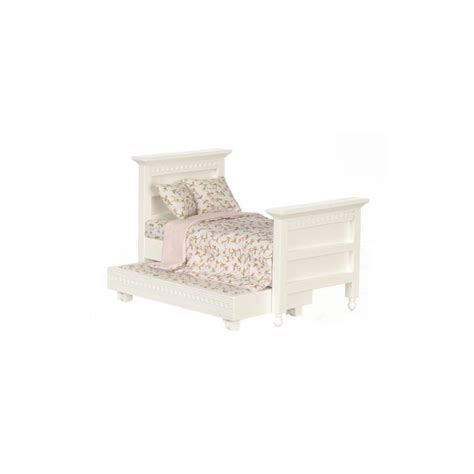 Dollhouse Headboard Bed by Trundle Bed White Cb Dollhouse Beds Superior Dollhouse Miniatures