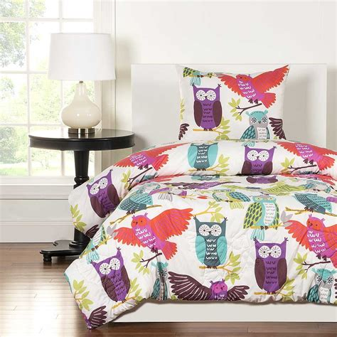 crayola owl always love you comforter set blanket warehouse
