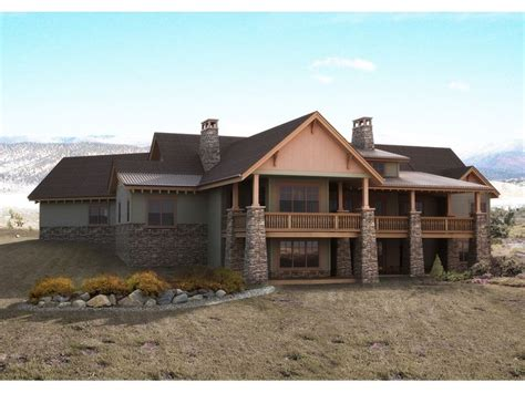 Mountain House Plans Rear View Dallin Mountain Home House Plans Ranch House Plans And Rear View