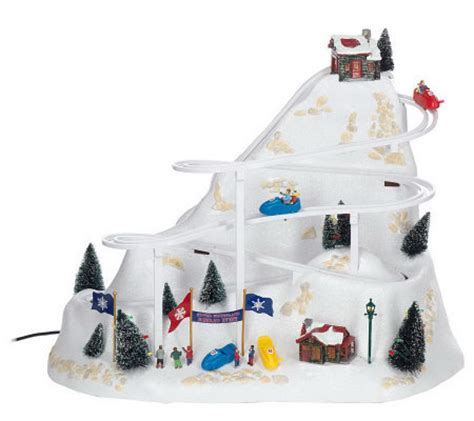 mr christmas winter wonderland bobsled collection qvc com