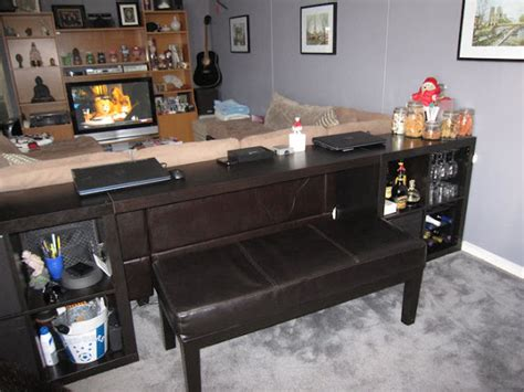 Expedit Sofa Table Bar Computer Desk Ikea Hackers Ikea