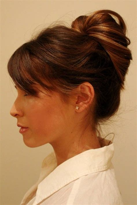 good hair bun in your 40s 40 top haircuts for women over 40 career bun hairstyles