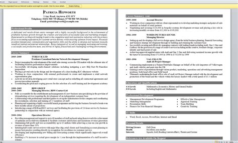 layout of an excellent cv exle of excellent cv format for cv resume