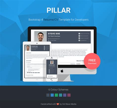 Bootstrap 3 Resume Template by Bootstrap Resume Talktomartyb