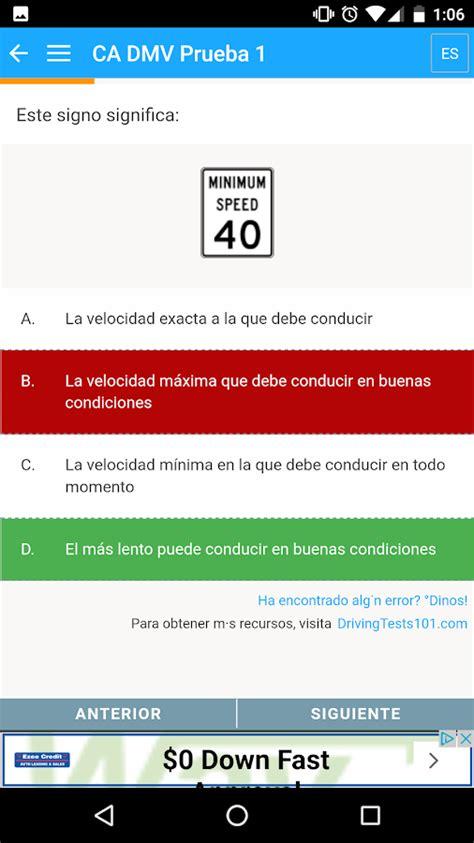 preguntas de examen de manejo del dmv examen de manejo dmv ee uu android apps on google play