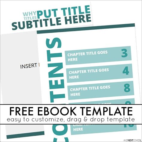 ebook template free book templates for self publishing and next comes l