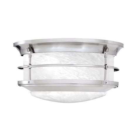 shop lighting 5 75 in w brushed nickel outdoor