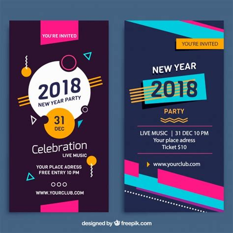 new year theme song banners verticales de de a 241 o nuevo 2018 estilo