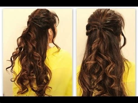 hairstyles for school half up cute twisted flip half up updo hair tutorial everyday