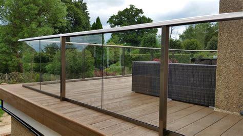 glass balustrade decking composite decking glass