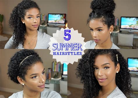 everyday hairstyles for wavy medium hair 5 everyday curly hairstyles vol 2 youtube