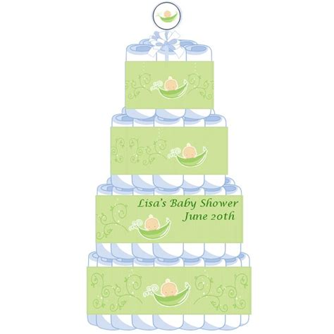 Two Peas In A Pod Baby Shower by 4 Tier Two Peas In A Pod Caucasian Baby Shower