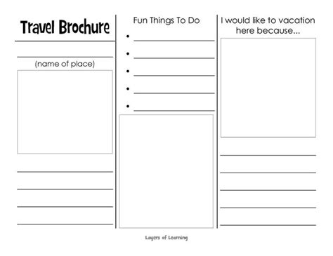 sle travel brochure template this printable travel brochure will help organize