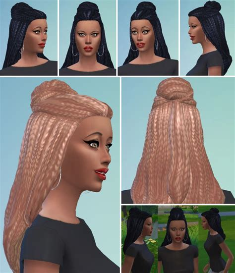 sims 4 bun braids my sims 4 blog braid bun hair for females by birksches