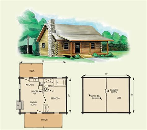 log cabin with loft floor plans cherokee