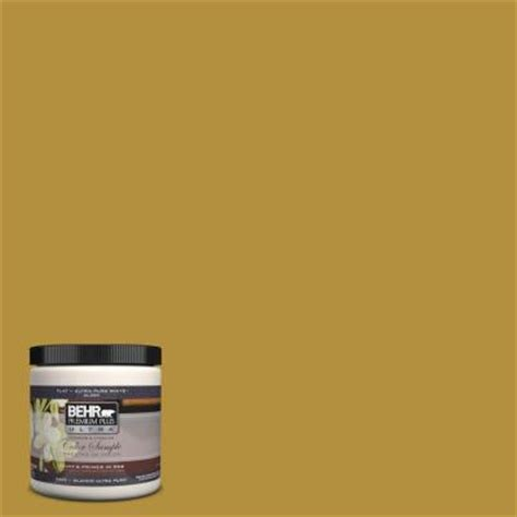 behr premium plus ultra 8 oz 370d 7 venetian gold interior exterior paint sle 370d 7u the