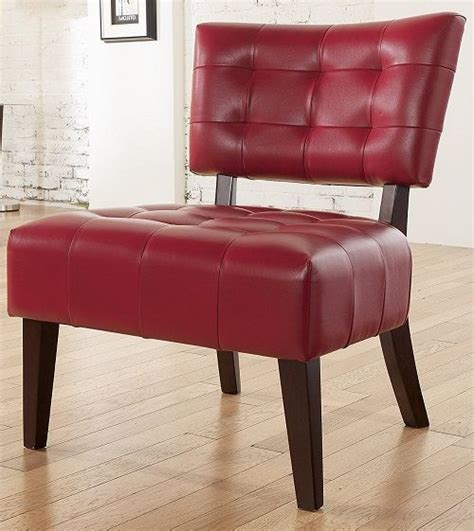 red living room chair oversized red leather chair tufted accent seating living