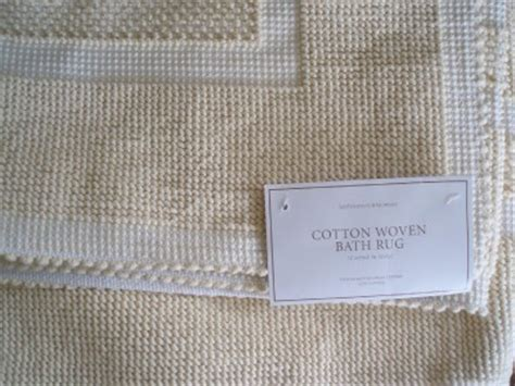 Restoration Hardware Bath Rugs Restoration Hardware Cotton Woven Butter Bath Rug 30 Quot X 72 Quot