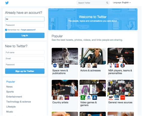 design home twitter twitter is experimenting with a major homepage design overhaul