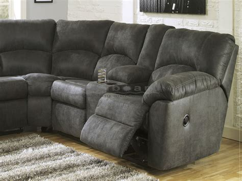ashley reclining sectional ashley 278 tambo 2pc pewter reclining sectional