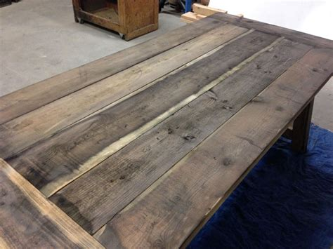 Sanding And Staining Kitchen Cabinets how to build a rustic and bold farm table