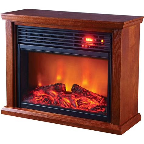 Electric Fireplace Heat profusion heat infrared electric fireplace 5118 btu oak finish model gdifp 1500r electric