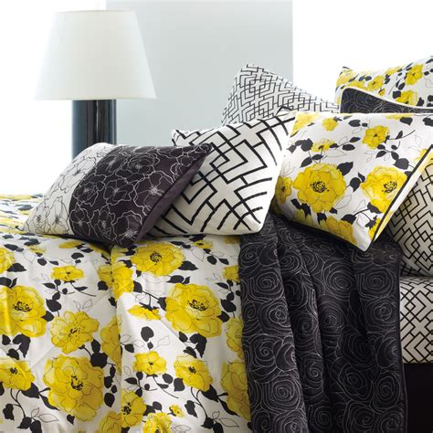 Black And Yellow Comforter by Steve Madden Gemma Comforter Set Black White Yellow