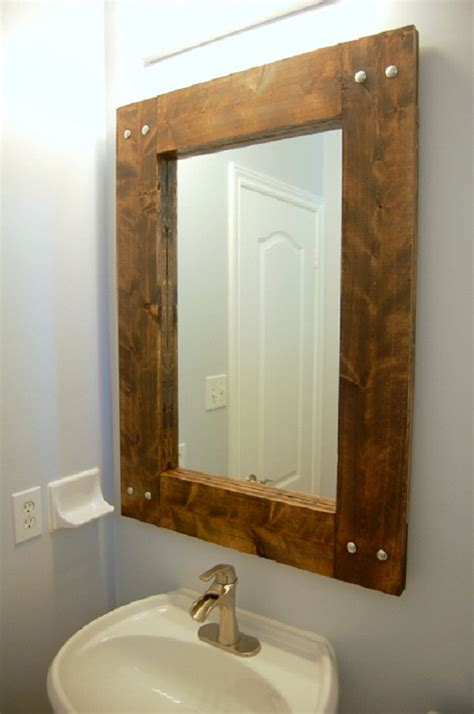Metal Bathroom Mirrors Furniture Rustic Wood Vanity Cabinet With Metal Vessel Sink Plus Mirror With Light Various