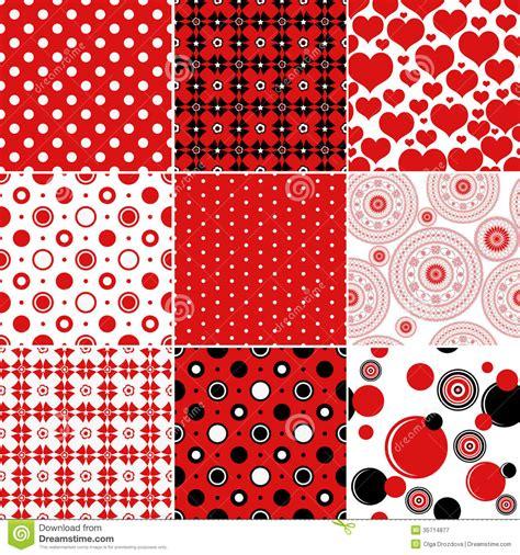 red color pattern design set seamless vintage pattern royalty free stock