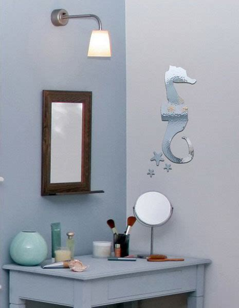 mirror decals for bathrooms mirror sticker wall decor ideas for spacious room design