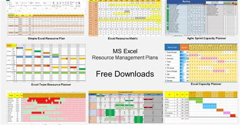 resource allocation template resource management using excel 9 free template downlaods