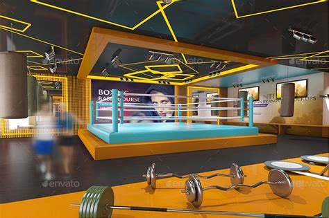 Fitness Center Software by Fitness Interior Design Branding Mockups By Wutip
