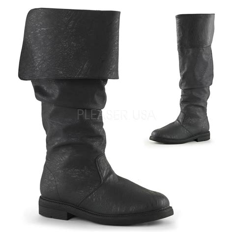 mens pirate boots black mens pirate captain hook renaissance barbossa slouch