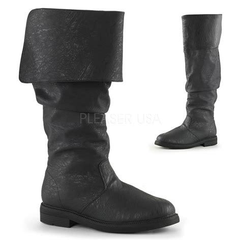 renaissance boots black mens pirate captain hook renaissance barbossa slouch