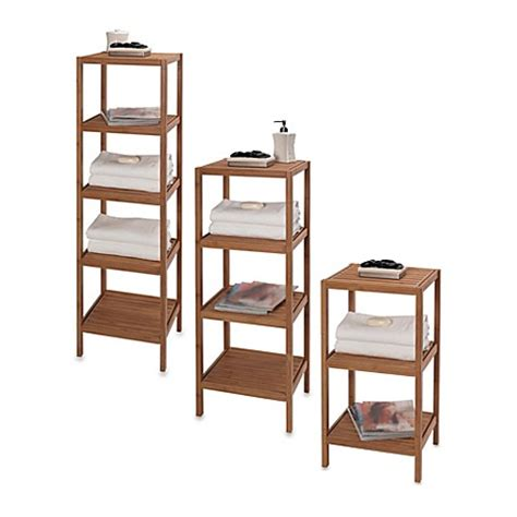 bathroom tower shelf creative bath ecostyles shelf bamboo tower bed bath beyond