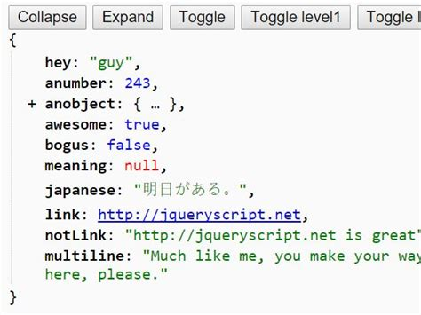 format html pretty simple json beautifier with jquery and css css3 beautify
