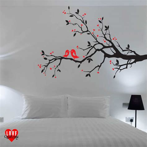 design love fest wall hanging love birds on a branch with hearts design wall art wall