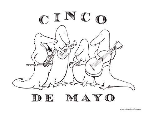 cinco de mayo coloring pages free large images