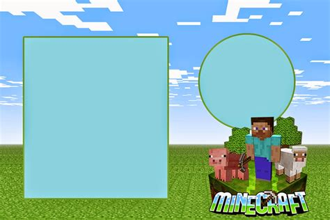 9 best images of free printable minecraft invitations