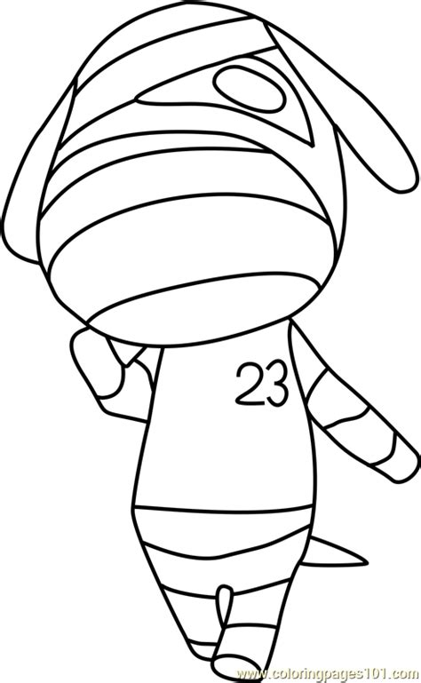 lucky animal crossing coloring page free animal crossing