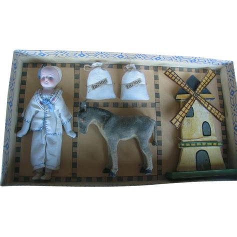 2 inch bisque dolls all bisque doll 51 2 inches or 14 cm in box with