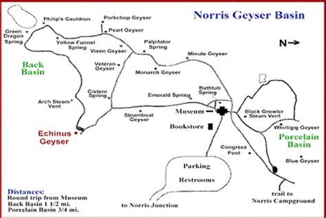 yellowstone geysers map norris geyser basin yellowstone geysers