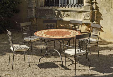 Table Ronde De Jardin 7631 by Table De Jardin Ronde Et Fauteuils Lorny Vigo