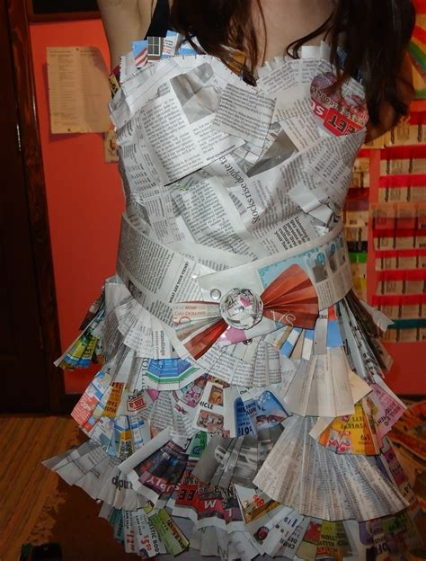 How To Make A Paper Dress - newspaper dress 183 a paper dress 183 decorating embellishing