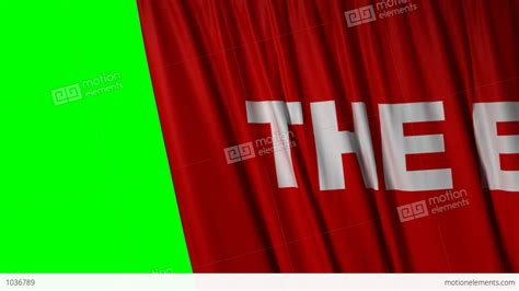 the end curtains closing red curtain with title quot the end quot stock animation