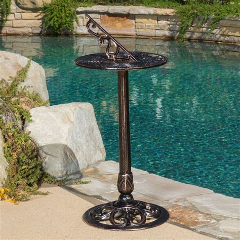 Garden Patio Decor Outdoor Decor Antiq Design Cast Aluminum Garden Sundial Ebay
