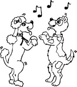 dancing animal colouring pages