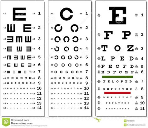 printable eye chart numbers eye chart stock vector image of healthcare chart exam